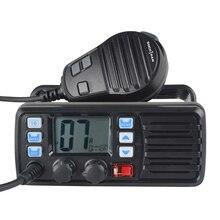 Walkie talkie vhf banda marinha, 25w de alta potência, rádio de barco móvel, à prova d água, 2 vias, transmissor móvel RS 507M