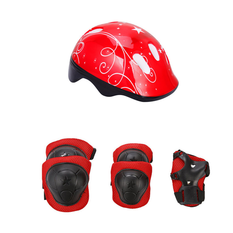 Bike Helmet Skateboard Protective-Knee-Pads Skating-Cycling Riding Kids Children And