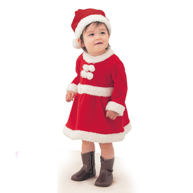 Christmas Children Dress Clothing Set Cute Baby Boys Santa Claus Suit for 2017 Christmas Warm Kids Clothes for Toddler Girls set of clothes children girls boys baby clothing milk print 3pcs suit toddler kids christmas pajamas sleepwear top 2017 new