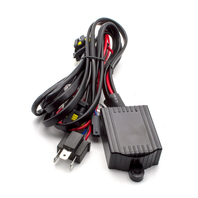 Safego 1X Relay Wire Harness For Car HID Bi-xenon Headlight Bulbs Conversion Kit H4 Hi/lo HID Lamp Relay Harness