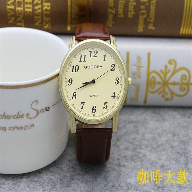 Luxury Gogoey Brand Rose Gold Case Leather Watches Men Women Dress Quartz Wrist Watch Go506