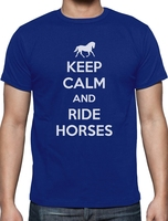 T Shirt Men 2017 Fashion Keep Calm Ride Horses Horse Riding T Shirt Gift