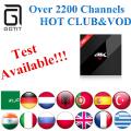 Alemania H96Pro + Android TV Box IPTV 3/32G con 2200 + Power Europe India Arábica Albaneses de REINO UNIDO Portugal Turquía Adultos Caja de la TV Inteligente