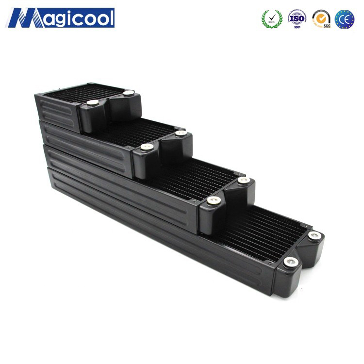 Magicool G2 Black 45mm Thick 120mm 240mm 360mm 480mm Copper Radiator Computer Water Cooling  Heat Sink  G1/4