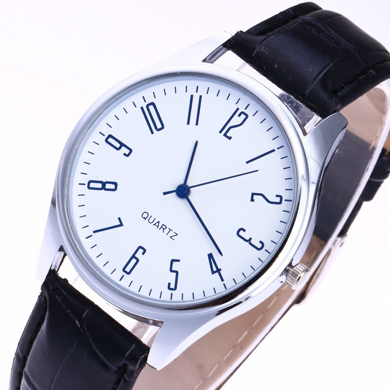 Relogio Masculino 2019 New Fashion Herreure Simple Letters Casual Leather Vandtæt Quartz Armbåndsure Man Ur