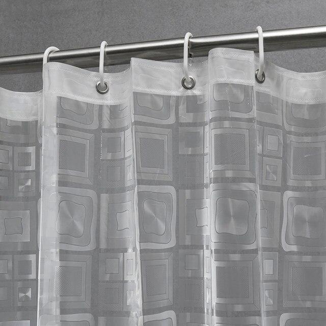Plastic EAV Embossing Semi Transparent Waterproof Thicken Shower Curtains  Bathroom Shower Curtains,