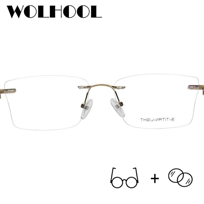 Platz Brillen Vintage Ultraleicht Legierung 09 Männer Progressive Frauen Randlose Retro Optische gxYHwIqw