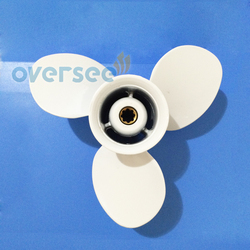 Oversee aluminum propeller 63v 45945 00 el 9 1 4x9 j for 9 9hp 15hp yamaha.jpg 250x250
