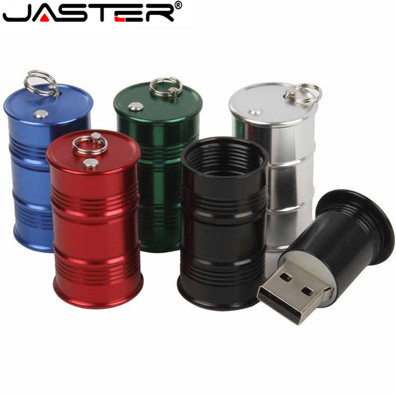 JASTER USB 2.0 Metal Fuel Tank Flash Drive Pendrive 4GB 8GB 16GB 32GB 64GB Oil Drum Pen Drive U Disk