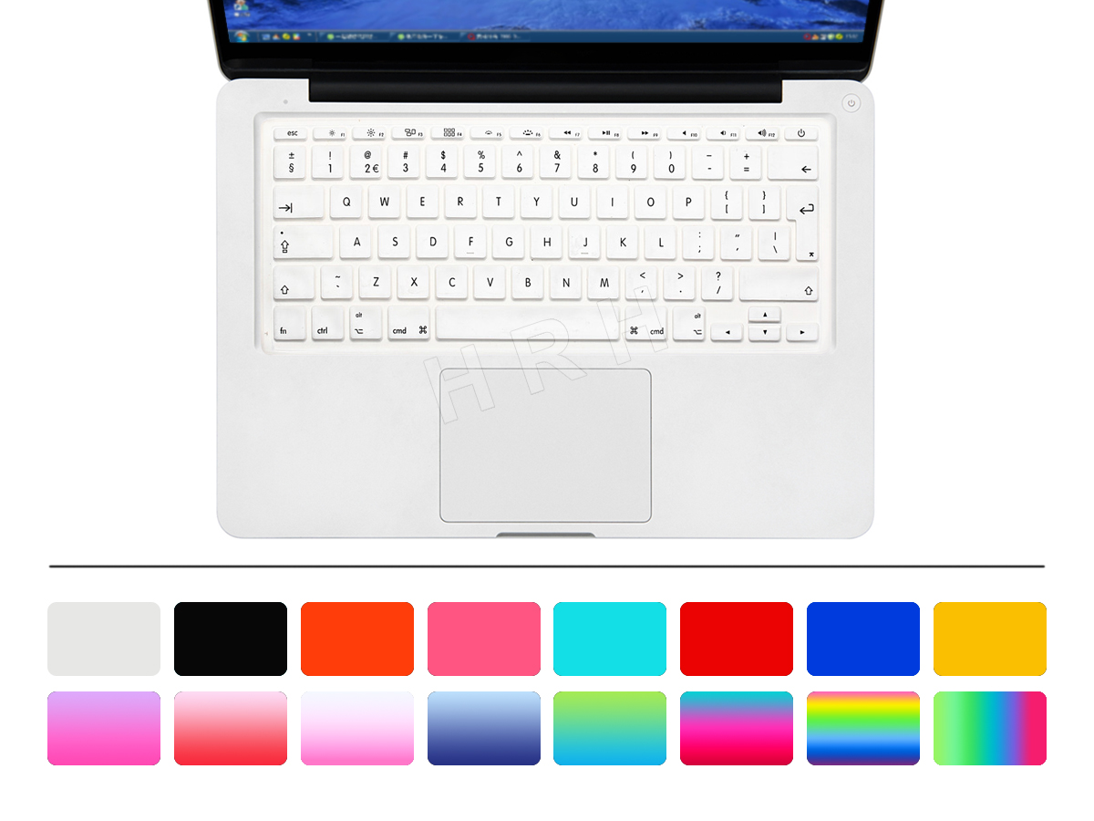 HRH 50pcs Dust Cover Silicone English UK EU Keyboard Cover Skin Protector Protective Film For Macbook Air 11 6 inch A1465 A1370 in Keyboard Covers from Computer Office