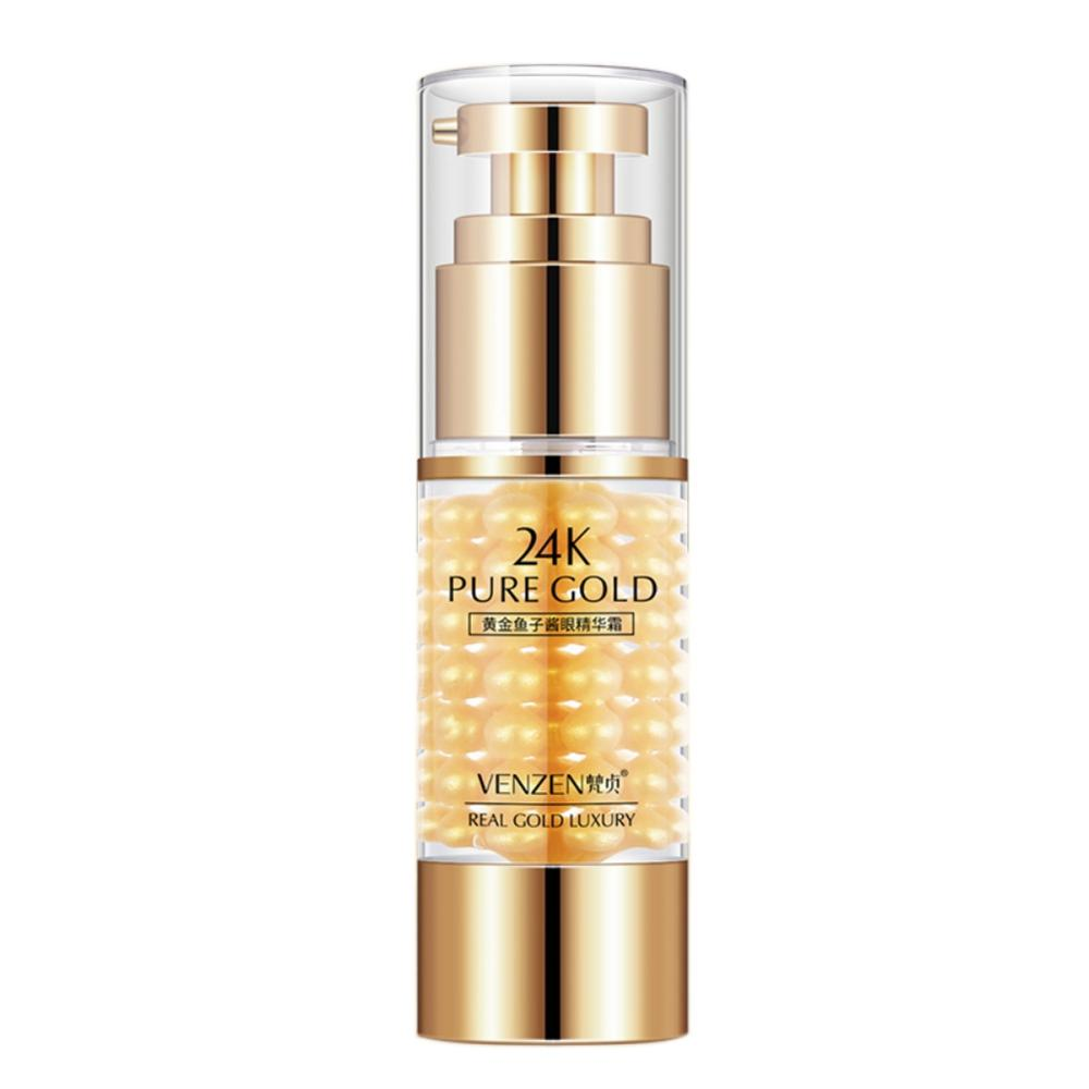 24K Gold caviar Eyes Serum Anti-Wrinkle Remover Dark Circles Eye Cream Against Puffiness Anti Aging Ageless Instantly