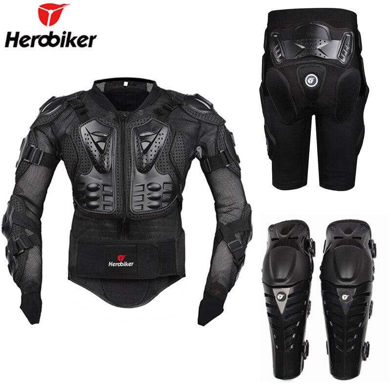 Moto équitation armure équipement de protection Motocross tout-terrain Enduro Racing complet protecteur du corps veste + Hip Pad Shorts + genouillères