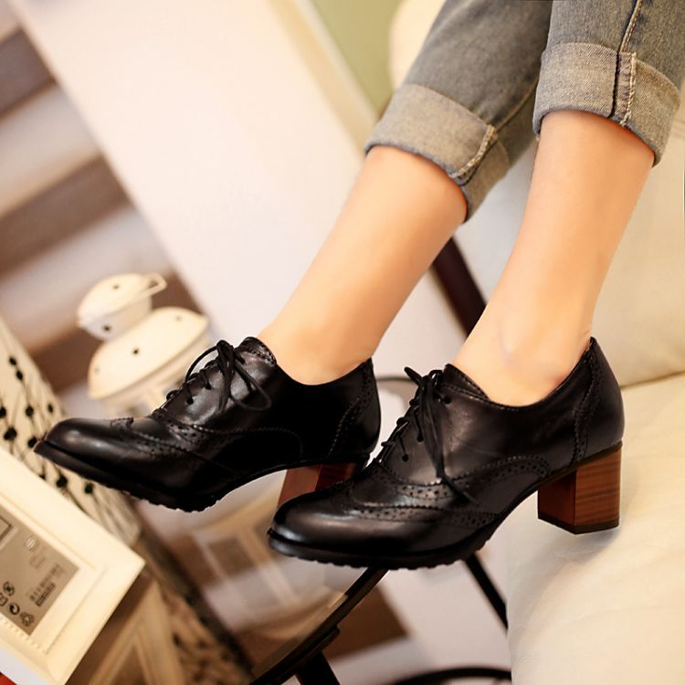 Aliexpress.com : Buy 2014 NEW Black/brown Womens Lace Up Ankle ...