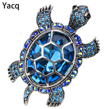 Big turtle stretch ring antique gold silver color W crystal silk scarf jewelry gifts for for women girls wholesale dropshipping