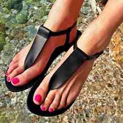 Жаркое лето Простой ПУ пляжные на низком каблуке Для женщин сандалии с открытым носком в стиле ретро Туфли с ремешком и пряжкой римские