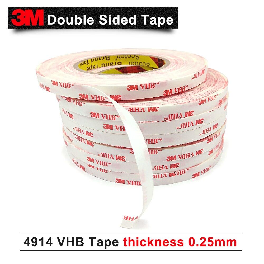 3 М VHB 4914 ленту можно использовать на улице и в помещении/15 мм* 33 м/5 рулонов/лот