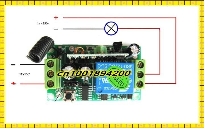 4 CH 315MHz DC 12V 3000m Wireless RF Remote Control Receiver Relay Switch