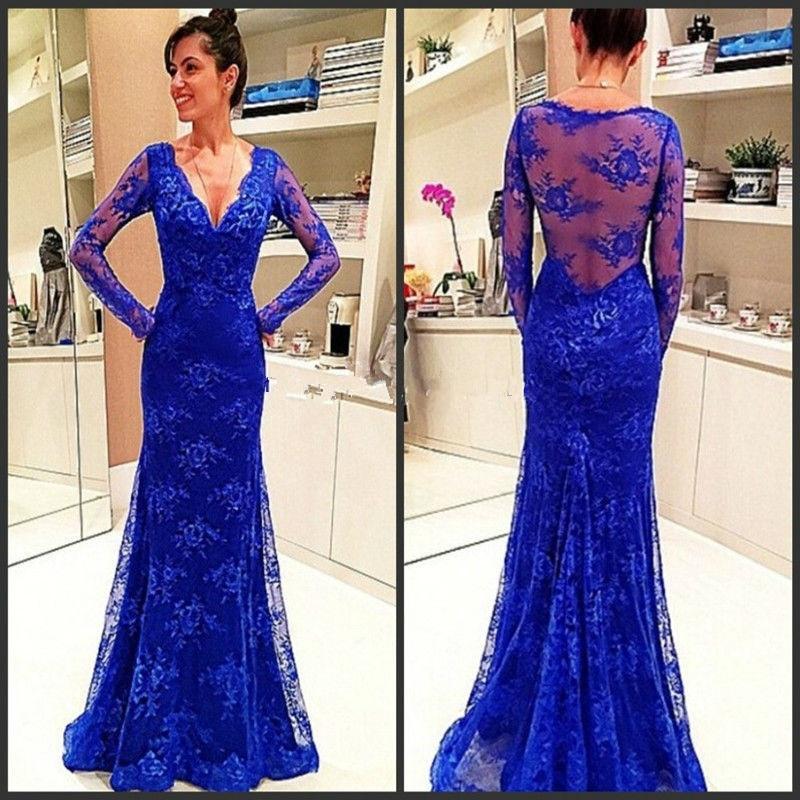Bonito Trajes De Etiqueta Azul De Baile De Graduación Colección ...