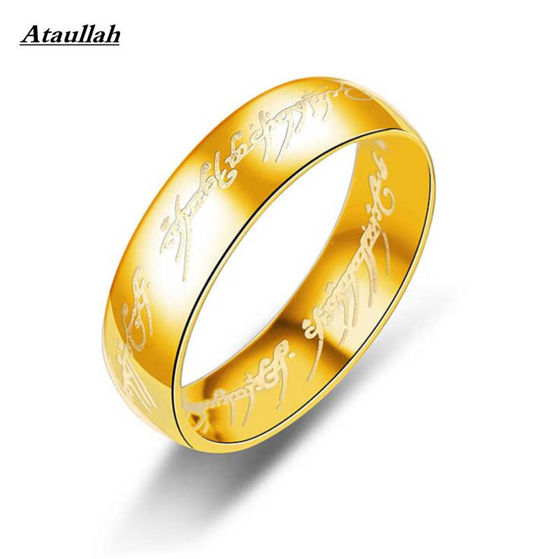 Ataullah 2018 Midi Stainless Steel One Ring of Power Gold the Lord of Ring Lovers Women Men Fashion Jewelry Wholesale RWD7-053
