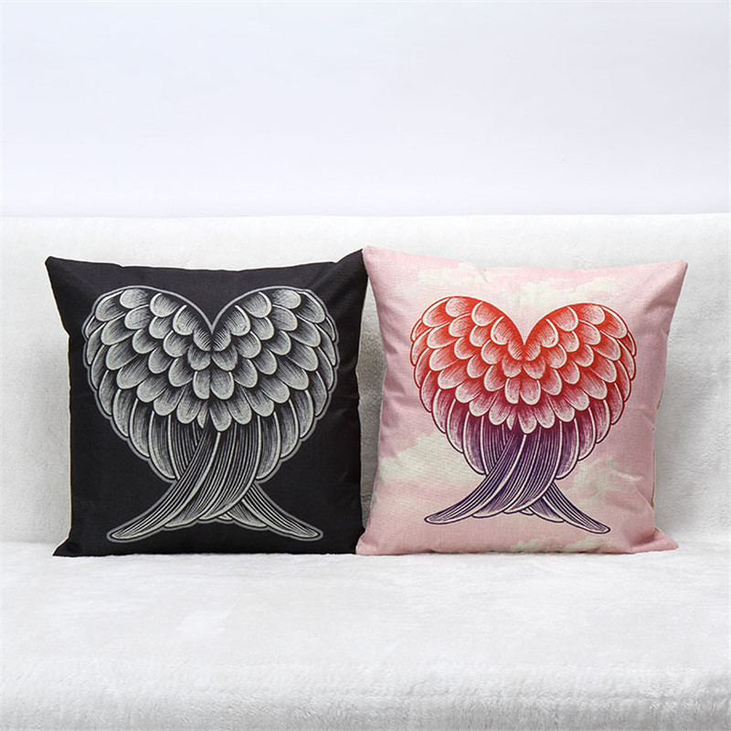 LOVE Heart Cushion Cover Feather Candy Color Pillows Covers Let it be Geometric Sofa Bedroom decorative pillows flower
