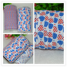 4th of July Pattern Elastic Ribbon-100yards Free shipping DIY baby headbands materials  Elastic Ribbon Clothing Materials