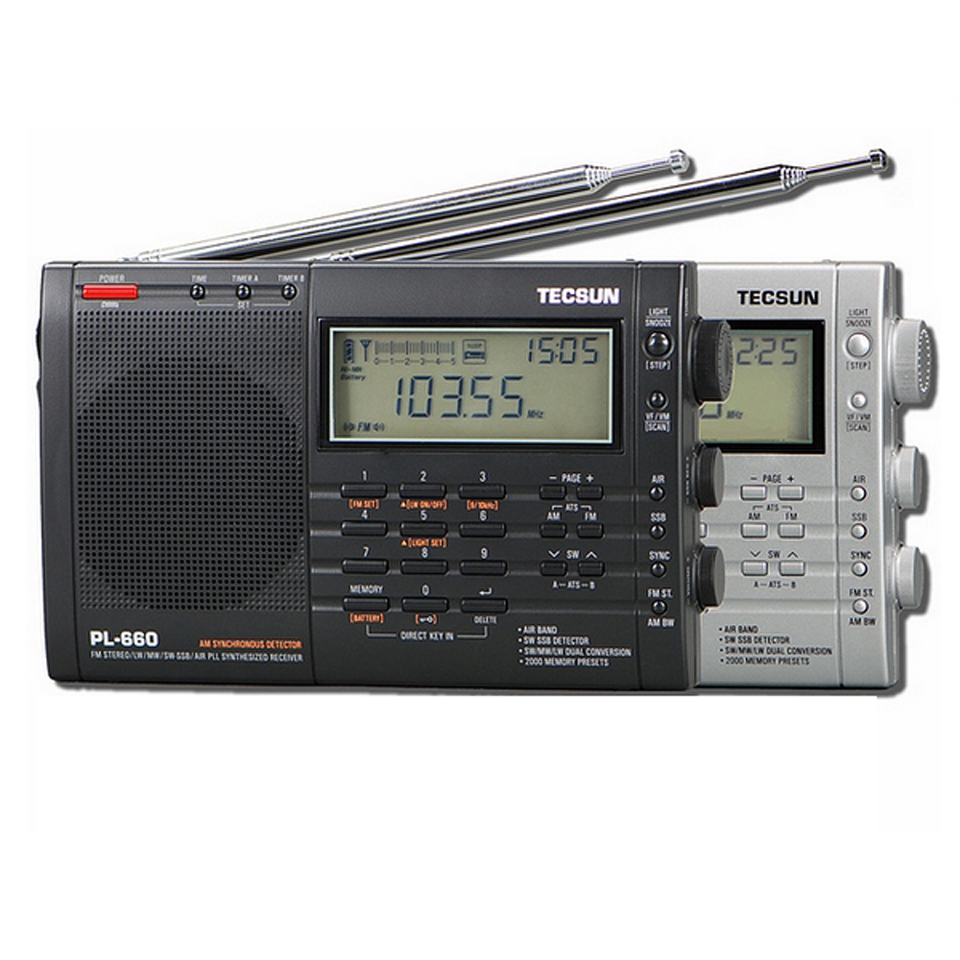 PL-660 PLL SSB VHF AIR Band Radio Receiver FM/MW/SW/LW Multiband Dual TECSUN tecsun pl 600 digital tuning full band fm mw sw sbb air pll synthesized stereo radio receiver 4xaa