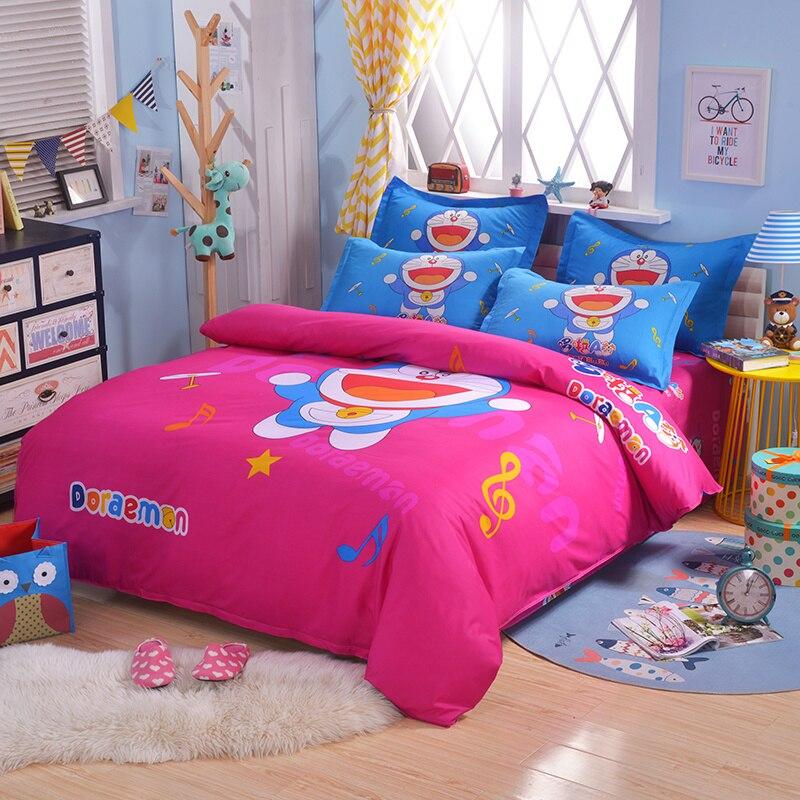 UNIKIDS Cute cartoon duvet cover set bedding set for Kids boy or girls Twin size KT006 cartoon and star print duvet cover set