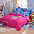 UNIKIDS Lindo de dibujos animados funda nórdica conjunto juego de cama para niño o niñas Niños Twin size KT006