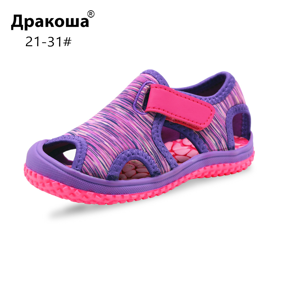 Apakowa Unisex Beach Sandals For Toddler Girls Hot Summer Kids Sports Shoes Baby Girls And Boys Quick Drying Cobblestone Sandals