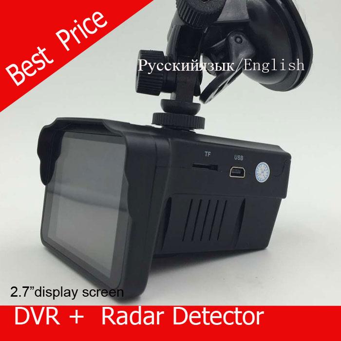 H588 speed Car DVR Camera Radar Detector Speed Radar combo 2in1 2 7 LCD Russian or