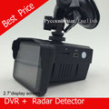 "H588 speed Car DVR Camera Radar Detector Speed Radar  combo 2in1 2.7""LCD Russian or ENGLISH Voice Free shipping"