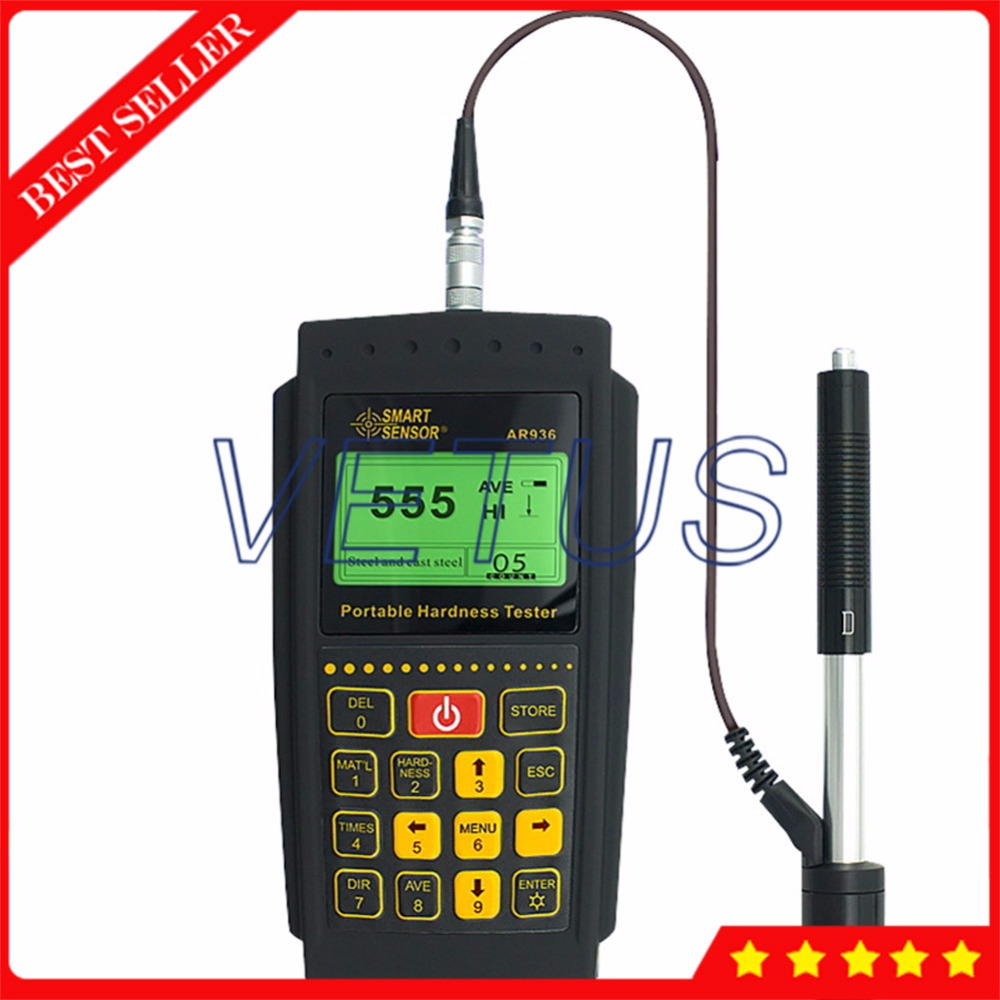 AR936 Portable font b Digital b font Hardness Tester with USB Data Connection