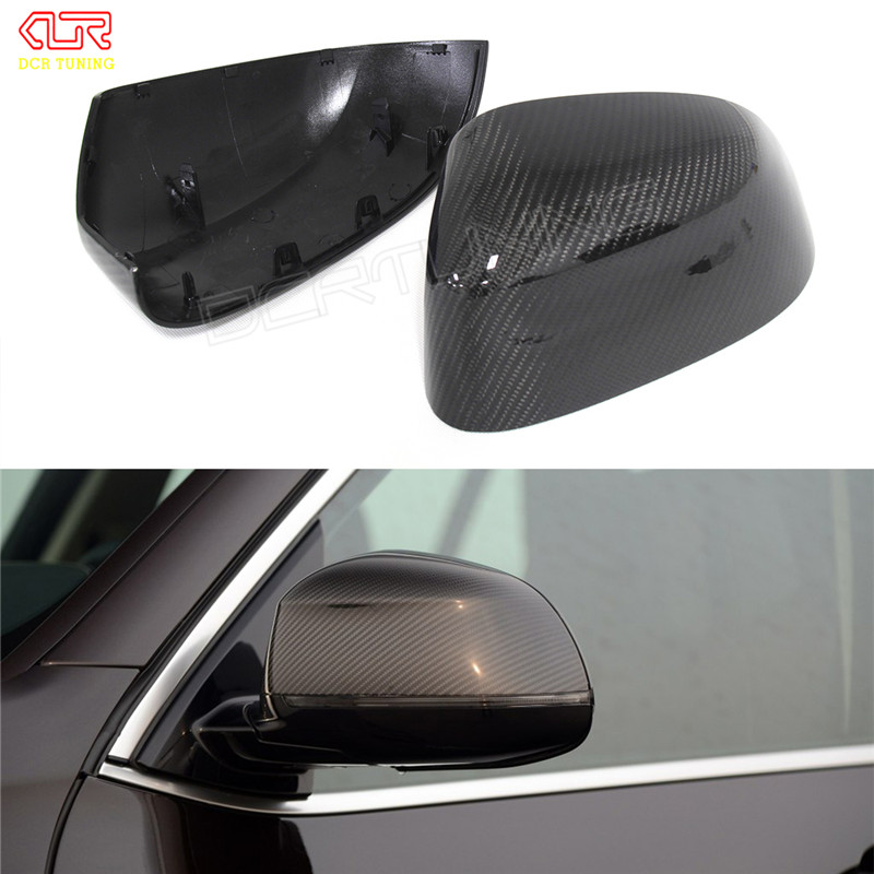 1 : 1 Replacement Style For BMW X3 F25 X4 F26 X5 F15 X6 F16 Carbon Fiber Rear Side View Mirror Cover 2014 - UP replacement car styling carbon fiber abs rear side door mirror cover for bmw 5 series f10 gt f07 lci 2014 523i 528i 535i