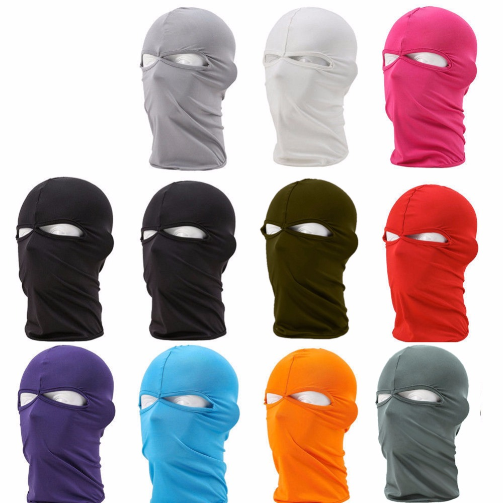 2017Balaclava Mask Windproof Full Face Masks Ski Winter Hat Snowboard Face Hook Neck protector Cycling Bike Cap Scarf 45*26CM coolchange 20006 cycling thicken fleeces face mask hat scarf black