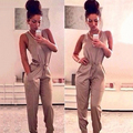 New Women Summer Sexy Night Club Bandage Sleeveless Formal Solid Jumpsuit