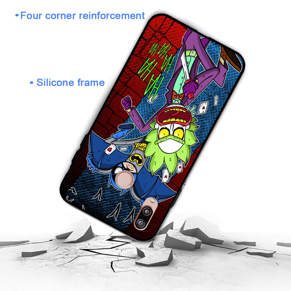 Cartoon Rick And Morty Soft Case for Huawei P8 P9 Lite Mini P10 P20 P30 Plus Pro P Smart Z 2019 in Fitted Cases from Cellphones Telecommunications