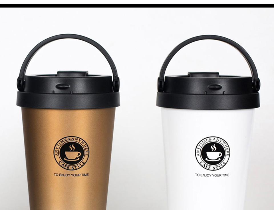 LIYIMENG 500mL Office Travel Coffee Mug 304 Stainless Steel Classical Mug Milk Tea Cup Water Bottle 3