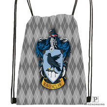 Custom hufflepuff-@04-Drawstring Backpack Bag Cute Daypack Kids Satchel (Black Back) 31x40cm#180611-03-127