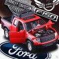 Новый Ford F150 Raptor 1:32 пикап Моделирования сплава автомобиля игрушки Мигающий Отступить Детские Игрушки Трейлер Коллекция Классических автомобилей
