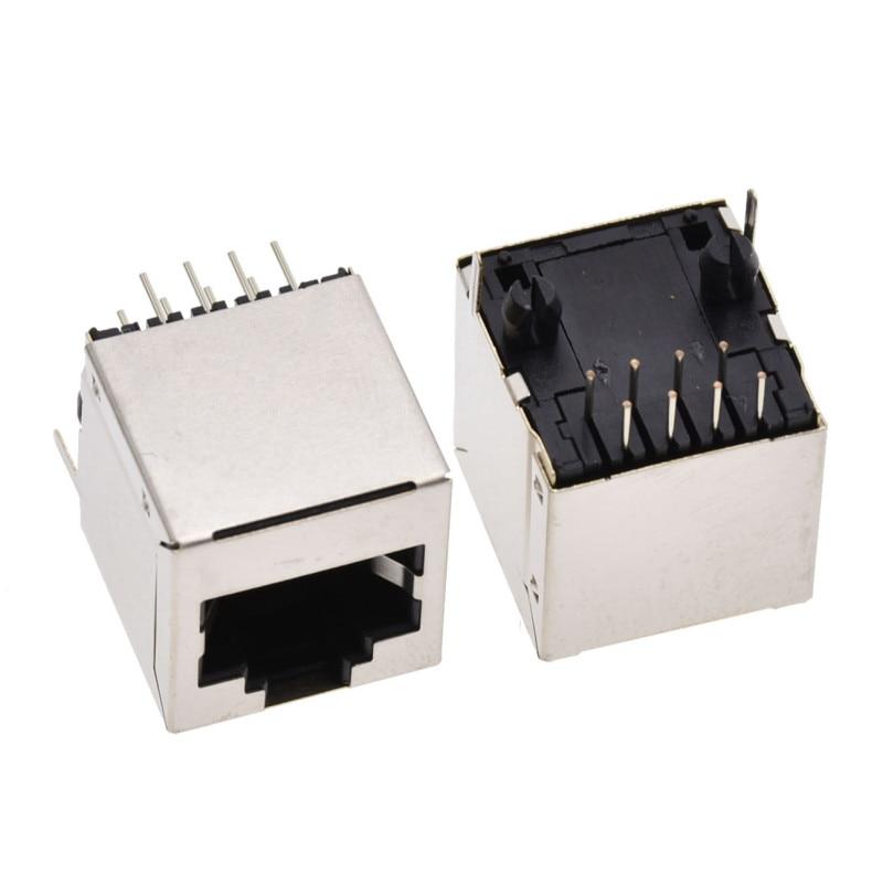 EziUsin Vertical 8P8C RJ45 5224 Network Connector Socket Interface Cable Shielded 5224-8P8C Ethernet Port Socket Transposon
