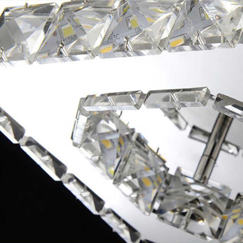Persegi LED Kristal Chandelier Cahaya untuk Teras Koridor Lorong Tangga wth LED Bulb 12 Watt 100% Jaminan