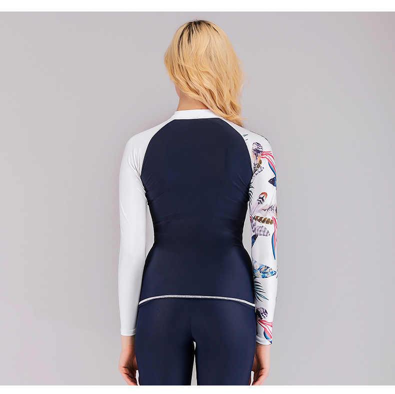 Sbart ארוך שרוול בגדי ים נשים uv פריחה משמר גלישת רוח העליונה בגד ים בגד ים נשים גלישה מים ספורט לייקרה חולצה