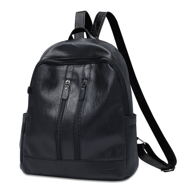 0042c1e8ea Backpack Women Fashion Soft Leather Shoulder Small Backpacks Casual  Shopping Ladies Multi Zipper Mini Bags Leather Backpack