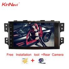 Lecteur multimédia Dvd de voiture KiriNavi 9 pouces Adnroid 9.0 pour Kia Mohave Borrego autoradio GPS Navigation 2008