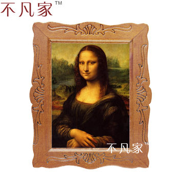 1:12 scale Wholesale miniature classical Mona Lisa oil painting D-18 jeanne kalogridis painting mona lisa