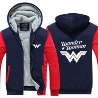 MIDUO 2018 DC Comics Super Hero Wonder Woman Print Hoodies Men Women Cashmere Sweatshirts Autumn And