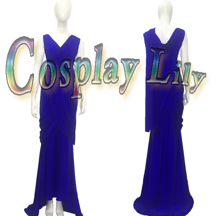 Wonder Woman Cosplay Costume dress Costume Diana Prince Cosplay costume blue dress evening dress custom made