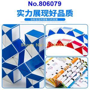 Image 3 - Regla mágica de 210cm de 120 segmentos, cubo giratorio de serpiente, rompecabezas, juguete educativo para niños 806079