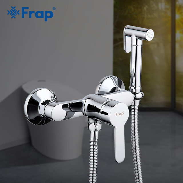 Frap grifos de bidé de latón para baño, grifo de ducha para bidé, rociador de Bidet, mezclador de ducha musulmán, ducha higiénica F2041