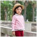 100% algodón de los niños prendas de punto 100-140 cm niñas prendas de punto 2 3 4 5 6 7 8 años rojo rosa niños niños suéteres de punto chica tire fille